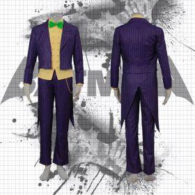 Batman Arkham City The Joker Halloween Cosplay Costume Classic Party Suit
