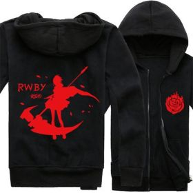 RWBY Red Trailer Ruby Rose Zipper Hoodie