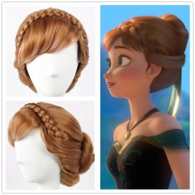 Disney Frozen Princess Anna Cosplay Updo Wig