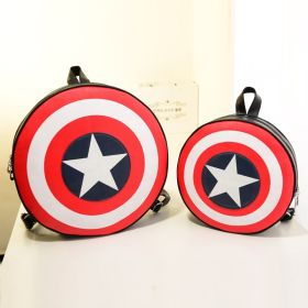 Captain America Shield Logo Cool Backpack School Bag