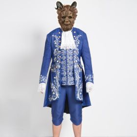 2017 Movie Beauty and the Beast Prince Adam Uniform Outfit Cosplay Costume