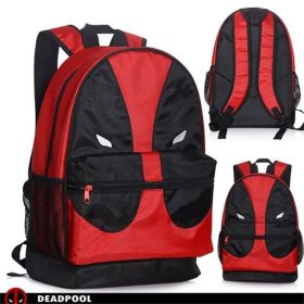 Marvel Deadpool Face Mesh Pocket Backpack School Bag