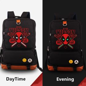 Deadpool Noctilucence Shoulder Backpack School Bag