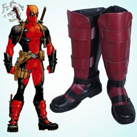 Marvel Deadpool Wade Wilson Shoes Cosplay Boots