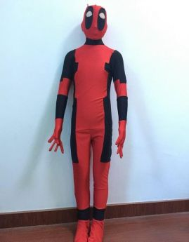 Superhero Deadpool Zentai Cosplay Full Body For Kids