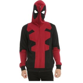 Marvel Deadpool Full Zip Cosplay Hoodie