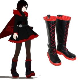 RWBY Red Trailer Ruby Flat Shoes Cosplay Boots