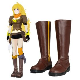 RWBY Yellow Trailer Yang Xiao Long Shoes Cosplay Boots