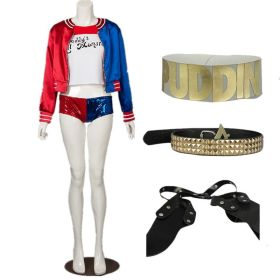 DC Comics Suicide Squad Harley Quinn Outfit Cosplay Costume