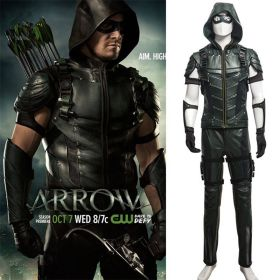 DC Comics Green Arrow Season 4 Oliver Queen Outfit Cosplay Costume