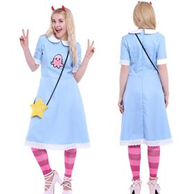 Star vs. the Forces of Evil Cosplay Princess Star Butterfly Blue Dress Cosplay Costume