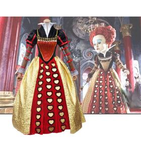 Alice In Wonderland Cosplay Red Queen Dress Cosplay Costume