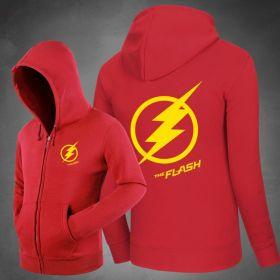 The Flash Star Logo Zipper Hoodies