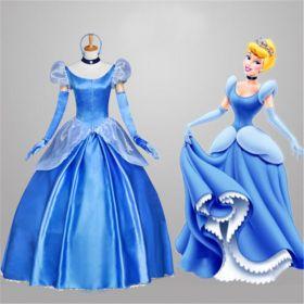 Disney Princess Cinderella Gorgeous Cosplay Dress