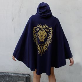 World Of Warcraft Cosplay Stormwind Alliance Tribal Cloak Dress Pullover Hoodie