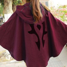 World Of Warcraft Cosplay The Horde Logo Tribal Cloak Dress Pullover Hoodie