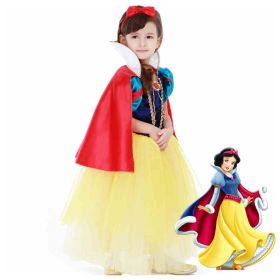 Disney Storybook Snow White Princess Girls Dress Cosplay Costume For Kids
