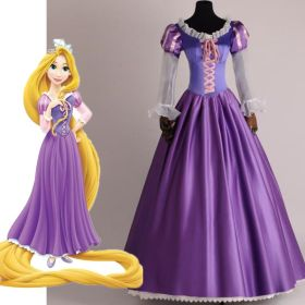 Disney Tangled Princess Rapunzel Adult Cosplay Costume Dress - Deluxe Version