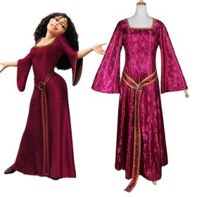 Disney Rapunzel Tangled Mother Dress Halloween Party Cosplay Costumes