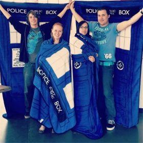 Doctor Who TARDIS Police Box Coral Fleece Throw Blanket Carpet Bed Sheet Velvet