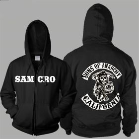 Sons Of Anarchy Samcro Icon Men Zipper Hoodies