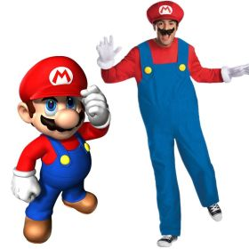 Super Mario Brothers Deluxe Mens Adult Cosplay Costume
