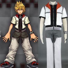Kingdom Hearts II Cosplay Roxas Outfit Costume First Version