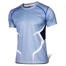 Marvel Superhero The Avengers Quicksilver Cosplay Sport Tight Tops Tee Shirt