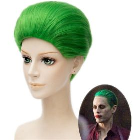 DC Comics Suicide Squad Joker Clown Jared Leto Green Short Hair Cosplay Wig