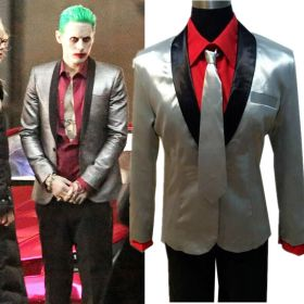 Suicide Squad Jared Leto Batman Joker Suit Outfit Halloween Cosplay Costume