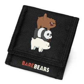 We bare bears Logo Oxford Fabric Trifold Wallet