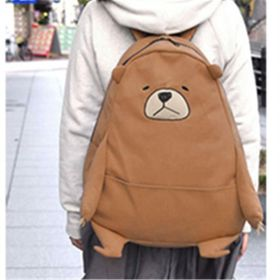 We Bare Bears Grizzly Cosplay Shoulder Backpack School Bag