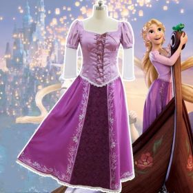 Disney The Princess Rapunzel Fancy Dress Adult Costumes for Halloween Party for Women