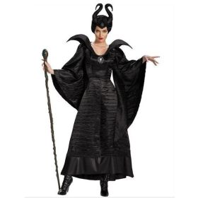 Disney Maleficent Halloween Women Black Witch Queen Costumes Carnival Party Cosplay Fancy Dress