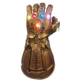 Adult Kids Thanos Gauntlet with Led Light Avengers Infinity War Glove Cosplay Prop