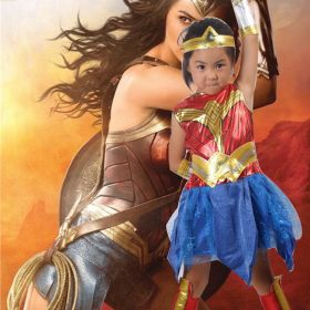 Wonder Woman Cosplay Costume for Kids Halloween Party