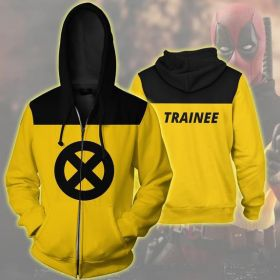 Deadpool 2 3D Printed Zipper Pockets Cosplay Coat Hoodie