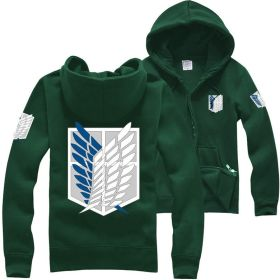 Attack on Titan: Wings Of Freedom Cosplay Costume Unisex Zipper Hooded Coat