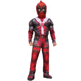 Deadpool Marvel Anti-Hero Cosplay Halloween Carnival Party Costumes for Children