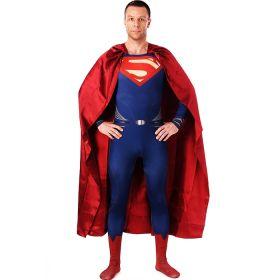 DC Comics Superman Cosplay Costume Mens Bodysuit Jumpsuits with Cloak
