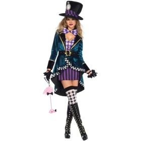 Alice in Wonderland Magician Cosplay Costume Halloween Party Stage Performance Costumes