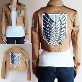Attack on Titan Short Jacket Scout Regiment Unisex Cosplay Costumes
