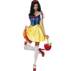 Women Snow White Cosplay Costume Halloween Party Dress Stage Performance Costumes