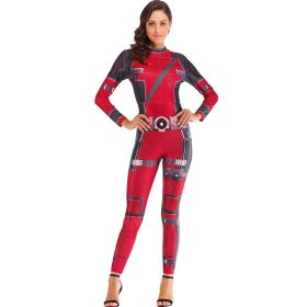 Halloween Deadpool Women Sexy Digital Printed Jumpsuit Movie Cosplay Costumes