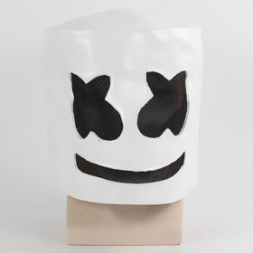Marshmello DJ Cosplay Costume Halloween Mask Live Broadcast Funny Stage Property