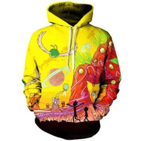 Rick and Morty Cartoon 3D Printed Long Sleeve Casual Hoodies Unisex Cosplay Costumes