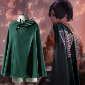Attack on Titan Scout Regiment Eren Jaeger Cosplay Cloak Anime Unisex Cosplay Costumes