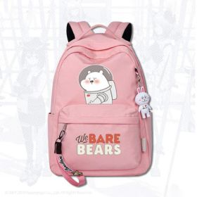 Anime We Bare Bears Unisex Fashion Backpack Students School Bags