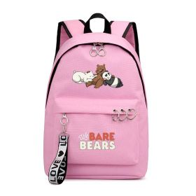 We Bare Bears Anime Cartoon Backpack Unisex Casual School Bags