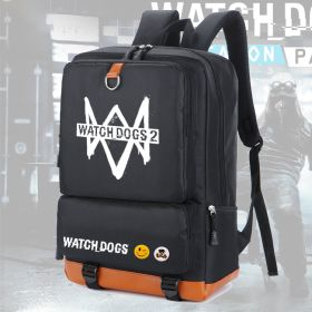 Game Watch Dogs 2 Printed Backpack Casual Students School Bags